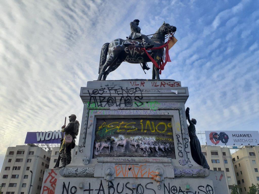 Monumento Baquedano, foto de Francisca Márquez